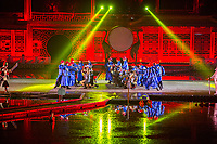 "Yangzhou, Jiangsu, China.  Evening Dance Show, ""A Night of Flowers and Moonlight by the Spring River."""