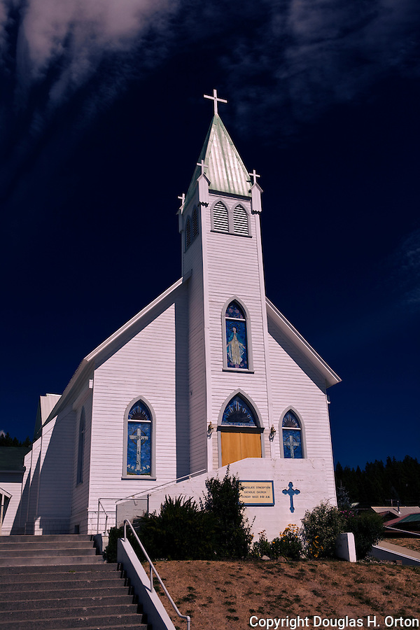The Immaculate Conception Catholic Church in the Cascade Mountain coal mining town of Roslyn, Washington where the television show Northern Exposure was filmed.