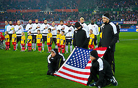 VIENNA, Austria - November 19, 2013: USA team group during a 0-1 loss to host Austria during the international friendly match between Austria and the USA at Ernst-Happel-Stadium.