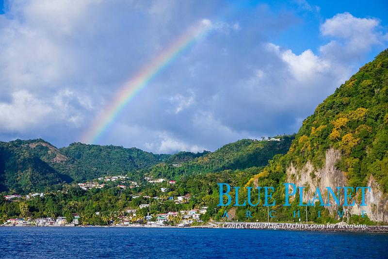 Rainbow over Dominica, Caribbean Sea, Dominica, Atlantic