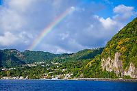 Rainbow over Dominica, Caribbean Sea, Dominica, Atlantic