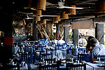 July 2010, LEBANON: The main dining area of the Byblos Fishing Club on the harbour famed for its seafood and film stars.Picture by Graham Crouch