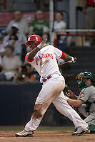 July 11 2009: Gabriel Ortiz of the Vancouver Canadians during game against the Boise Hawks at Nat Bailey Stadium in Vancouver,BC..Photo by Larry Goren/Four Seam Images
