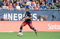 FOXOBOROUGH, MA - AUGUST 21: Wilfrid Katoum #5 of New England Revolution during a game between FC Cincinnati and New England Revolution at Gillette Stadium on August 21, 2021 in Foxoborough, Massachusetts.