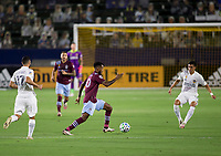 CARSON, CA - SEPTEMBER 19: Kellyn Acosta #10 of the Colorado Rapids moves with the ball during a game between Colorado Rapids and Los Angeles Galaxy at Dignity Heath Sports Park on September 19, 2020 in Carson, California.