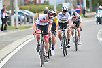 The lead group with Tadej Pogacar (SLO) UAE Team Emirates, Primoz Roglic (SLO) Team Jumbo-Visma, World Champion Julian Alaphilippe (FRA) Deceuninck-Quick Step and Marc Hirschi (SUI) Team Sunweb near the finish of Liege-Bastogne-Liege 2020, running 257km from Liege to Liege, Belgium. 4th October 2020.<br /> Picture: ASO/Gautier Demouveaux | Cyclefile<br /> All photos usage must carry mandatory copyright credit (© Cyclefile | ASO/Gautier Demouveaux)
