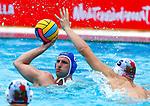 Marek Tkac in action during game between Russia  against Slovakia  LEN European Water Polo Championships, Barcelona 16.07.2018