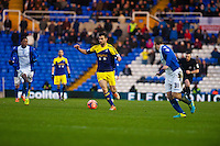 Saturday 25 January 2014<br /> Pictured: Alvaro Vazquez  runs forward with the ball <br /> Re: Birmingham City v Swansea City FA Cup fourth round match at St. Andrew's Birimingham