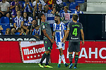 Leganes' Nabil El Zhar and Real Sociedad's Hector Moreno(l) and Asier Illarramendi (r) during La Liga match. August 24, 2018. (ALTERPHOTOS/A. Perez Meca)