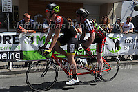 "The tandem competitors of the ""Para Grand Prix of Wales"" race during the Abergavenny Festival of Cycling ""Grand Prix of Wales"" race on Sunday 17th 2016<br /> <br /> <br /> Jeff Thomas Photography -  www.jaypics.photoshelter.com - <br /> e-mail swansea1001@hotmail.co.uk -<br /> Mob: 07837 386244 -"
