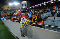Fans in the grandstand during the Super Rugby Aotearoa match between the Blues and Chiefs at Eden Park in Auckland, New Zealand on Saturday, 1 May 2021. Photo: Dave Lintott / lintottphoto.co.nz