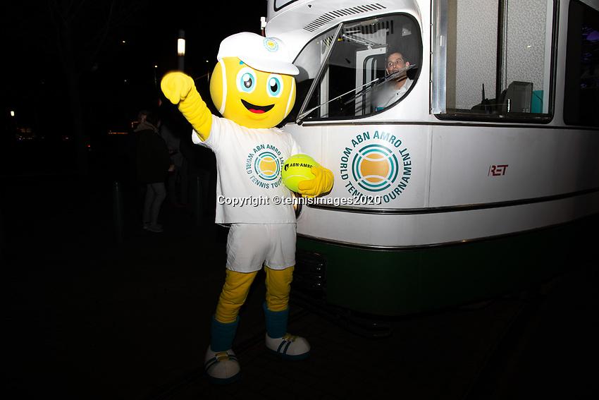 Rotterdam, The Netherlands, 7 Februari 2020, ABNAMRO World Tennis Tournament, Draw in tram in town<br /> Photo: www.tennisimages.com