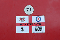 Wanstead O's sticker on a seat during Leyton Orient vs Crawley Town, Sky Bet EFL League 2 Football at The Breyer Group Stadium on 19th December 2020