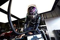 31st October 2020, Imola, Italy; FIA Formula 1 Grand Prix Emilia Romagna, Qualifying;  44 Lewis Hamilton GBR, Mercedes-AMG Petronas Formula One Team, takes 2nd on pole
