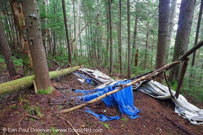 Human impact on the northern slopes of Mount Jim in Kinsman Notch of Woodstock, New Hampshire USA during the summer months.