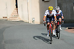 Luis Leon Sanchez (ESP) Astana-Premier Tech and Julian Bernard (FRA) Trek-Segafredo attack on Mont Brouilly during Stage 4 of Paris-Nice 2021, running 187.5km from Chalon-sur-Saone to Chiroubles, France. 10th March 2021.<br /> Picture: ASO/Fabien Boukla | Cyclefile<br /> <br /> All photos usage must carry mandatory copyright credit (© Cyclefile | ASO/Fabien Boukla)