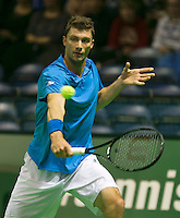 09-02-14, Netherlands,Rotterdam,Ahoy, ABNAMROWTT, Paul-Henry Mathieu (FRA)<br /> Photo:Tennisimages/Henk Koster