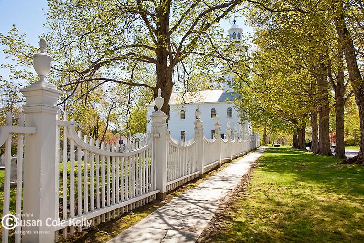 Springtime at the old First Church in Bennington, VT, USA
