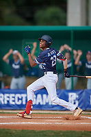 Jordan McCants (23) during the WWBA World Championship at Terry Park on October 9, 2020 in Fort Myers, Florida.  Jordan McCants, a resident of Cantonment, Florida who attends Catholic High School, is committed to Mississippi State.  (Mike Janes/Four Seam Images)