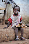 A child in the mountainous community of Foret-des-Pins, Haiti.