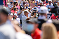 14th March 2021; Ponte Vedra Beach, Florida, USA;  Bryson DeChambeau of the United States plays a tee shot on the first hole during the final round of THE PLAYERS Championship on March 14, 2021 at TPC Sawgrass Stadium Course in Ponte Vedra Beach, Fl.