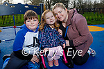 Enjoying the playground in the Tralee town park on Friday, l to r: Lewis, Ivy Rose and Ailish Hughes
