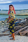 Portrait of a Kuna girl on Isla Pelikano, San Blas Islands, Kuna Yala, Panama