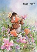Ron, CUTE ANIMALS, Quacker, paintings, brown duck, flowers(GBSG7197,#AC#) Enten, patos, illustrations, pinturas