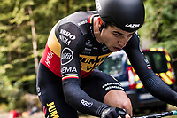 Wout van Aert (BEL/Jumbo - Visma) on the steep parts of the individual time trial up the infamous Planche des Belles Filles<br /> <br /> Stage 20 (ITT) from Lure to La Planche des Belles Filles (36.2km)<br /> <br /> 107th Tour de France 2020 (2.UWT)<br /> (the 'postponed edition' held in september)<br /> <br /> ©kramon