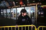 Suicide bomber set off a homemade explosive device at the Port Authority Bus Terminal subway station