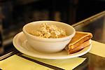 Wellboro Diner interior. Oatmeal and toast.