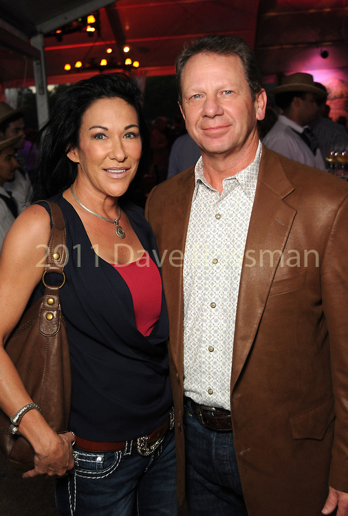 Michelle and Bennett Douglas at the Nature Conservancy's Nature Rocks  Gala at the Houston Polo Club Thursday Oct. 22,2015.(Dave Rossman photo)