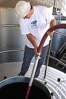 Pumping over, spraying the cap herdade de sao miguel alentejo portugal