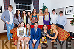 Members of the Portmagee Rowing Club attending the South & Mid Kerry Rowing Social in The Royal Hotel Valentia on Sunday night were front l-r; Sarah Murphy, Chloe Devane, David Hussey, Caoimhe O'Shea, Cliodhna Guiney, back l-r; Brendan Kelly, Emma Foran, Lucy Higgins, Julia Cooper, Jane O'Connor, Rachel Devane, Aoife Murphy, Fionán Hussey & Thomas Hussey.