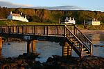 Footbridge from Ballycastle Beach to Pans Rocks, Ballycastle, County Antrim, Northern Ireland