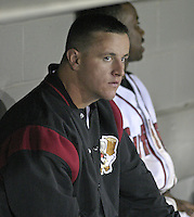 September 3, 2004:  Pitcher Matt Capps of the Williamsport Crosscutters during a game at Bowman Field in Williamsport, PA.  Williamsport is the Short Season Single-A NY-Penn League affiliate of the Pittsburg Pirates.  Photo By Mike Janes/Four Seam Images