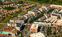 Aerial photography over Charlotte, NC, and the surrounding areas from May 2009. Photos by Charlotte photographer Patrick Schneider Photography. Photo of Birkdale Village, a mixed-use shopping and residential center located in Huntersville, NC, north of Charlotte.