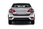 Straight rear view of 2017 Nissan Sentra S 4 Door Sedan Rear View  stock images
