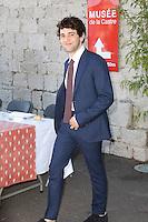 Xavier DOLAN arrive - David Lisnard, Maire de Cannes, Vice-President du departement des Alpes-Maritimes, invite comme depuis 2001 l'avait instaure Mr.Bernard Brochand, ancien Maire de la Ville de Cannes, une AIOLI DE LA PRESSE en presence des membres du Jury du 68eme Festival du Film 2015 a Cannes, Place de la Castre, le Suquet - 22.MAI.2015