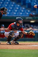 Anthony Migliaccio (10) of Detroit Country Day Upper High School in Wyandotte, MI during the Perfect Game National Showcase at Hoover Metropolitan Stadium on June 20, 2020 in Hoover, Alabama. (Mike Janes/Four Seam Images)