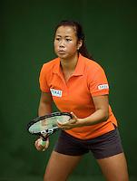 29-1-09, Almere, Training Fedcup team, Pauline Wong