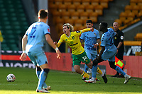 9th January 2021; Carrow Road, Norwich, Norfolk, England, English FA Cup Football, Norwich versus Coventry City; Julien Dacosta of Coventry City fouls Todd Cantwell of Norwich City