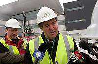 The new international jetty construction site at MontrÈal-<br /> Pierre Elliott Trudeau International Airport (YUL) in February 2004.<br /> <br /> Contruction de la nouvelle jetÈe de l'aÈroport Pierre E Trudeau (YUL) FÈvrier 2004<br /> photo : (c) images Distribution