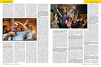 Magyar Narancs (Hungarian weekly magazine) on oppositional victory in local elections, Budapest, Hungary, 10.2019.<br /> Photos: Martin Fejer