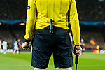 The vanishing spray of the assistant referee is seen during the UEFA Champions League 2017-18 Round of 16 (2nd leg) match between FC Barcelona and Chelsea FC at Camp Nou on 14 March 2018 in Barcelona, Spain. Photo by Vicens Gimenez / Power Sport Images