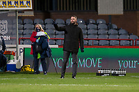 27th March 2021; Dens Park, Dundee, Scotland; Scottish Championship Football, Dundee FC versus Dunfermline; Dundee manager James McPake directs operations