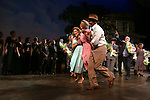 """Vanessa Williams, Cicely Tyson and Leon Addison Brown during """"The Trip To Bountiful"""" Final Performance Curtain Call & Celebration at The Stephen Sondheim Theatre on October 9, 2013 in New York City."""