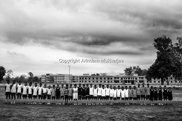 Students of Sukma Football Academy. Sukma, Chattisgarh, India. Arindam Mukherjee