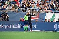FOXOBOROUGH, MA - AUGUST 21: Jaap Stamp Head Coach of FC Cincinnati during a game between FC Cincinnati and New England Revolution at Gillette Stadium on August 21, 2021 in Foxoborough, Massachusetts.