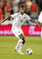 KANSAS CITY, KS - JUNE 26: Fidel Escobar #4 during a game between Panama and USMNT at Children's Mercy Park on June 26, 2019 in Kansas City, Kansas.